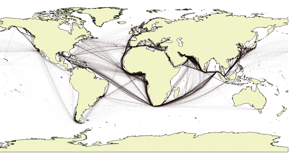 Map vessels positions in QGIS